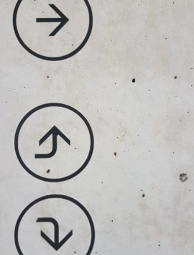 Arrows pointing in different directions
