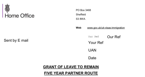 Grant of Leave to Remain