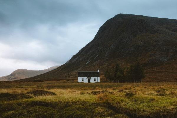 Lone house in Glencoe