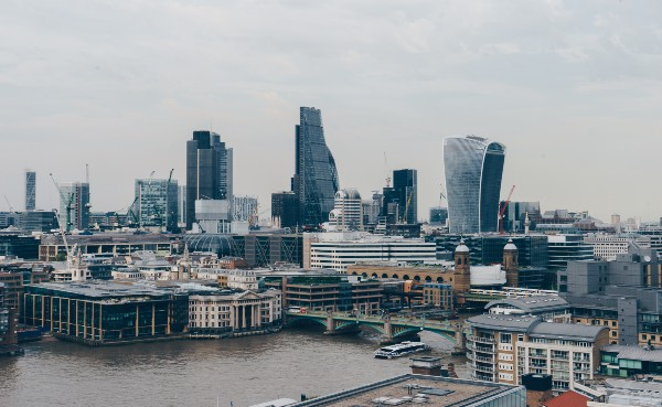London cityscape with main buildings